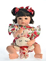 cheap -KEIUMI 22 inch Reborn Doll Baby & Toddler Toy Reborn Toddler Doll Baby Girl Gift Cute Washable Lovely Parent-Child Interaction Full Body Silicone 22D01-C321-H29-T23 with Clothes and Accessories for