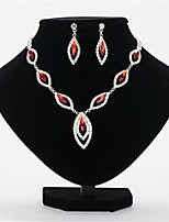 cheap -Women's White AAA Cubic Zirconia Stud Earrings Choker Necklace Bridal Jewelry Sets Tennis Chain Mini Stylish Luxury Earrings Jewelry White / Black / Red For Wedding Party Engagement 1 set