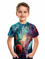 cheap -Kids Boys' Basic Holiday Geometric Print Short Sleeve Tee Blue