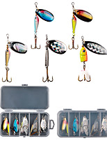 cheap -5 pcs Spinner Baits Fishing Lures Fishing Bait Spinnerbaits Sinking Bass Trout Pike Bait Casting Other Lure Fishing Metal