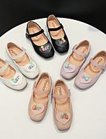 cheap -Girls' Flats Flower Girl Shoes PU Little Kids(4-7ys) Black / Purple / Pink Summer / Fall
