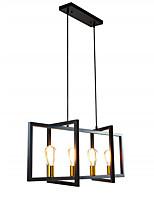 cheap -QIHengZhaoMing 4-Light 90 cm Island Design Pendant Light Metal Vintage 110-120V 220-240V