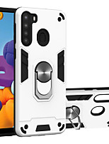 cheap -Case For Samsung Galaxy A20 A30 A10 M10 A40 A50 A30S A50S A60 M40 A70 A70S A10S A20S M30S Shockproof Ring Holder Back Cover Solid Colored TPU PC Metal