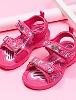 cheap -Girls' Sandals Comfort PU Little Kids(4-7ys) Fuchsia / Pink Summer