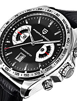 cheap -PAGANI Men's Sport Watch Quartz Modern Style Sporty Stainless Steel Leather Water Resistant / Waterproof Calendar / date / day Analog Casual Outdoor - Black Silver Coffee
