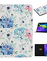 cheap -Case For Apple iPad 10.2 iPad Pro 11 2020 iPad Air 10.5 2019 Card Holder with Stand Pattern Full Body Cases Flower PU Leather iPad Mini 12345 2017 2018
