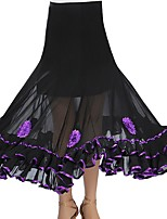 cheap -Ballroom Dance Skirts Appliques Women's Training POLY