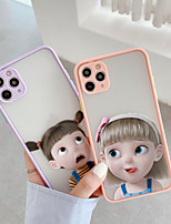 cheap -Case For APPLE  iPhone 7 8 7plus 8plus  XR XS XSMAX  X 11 11Pro   11ProMax Translucent Pattern Back Cover Cartoon TPU  Silicone