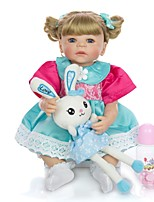 cheap -KEIUMI 22 inch Reborn Doll Baby & Toddler Toy Reborn Toddler Doll Baby Girl Gift Cute Washable Lovely Parent-Child Interaction Full Body Silicone 22D03-C158-S24-H22-T22 with Clothes and Accessories