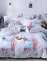 cheap -4 Pieces Duvet Cover Bedding Set -Ultra Comfy Breathable Zipper Easy Care