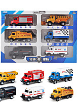 cheap -Vehicle Playset Construction Truck Toys Engineering Vehicle Military Vehicle Police car Ambulance Vehicle Sounds Lights Drop-resistant Alloy Mini Car Vehicles Toys for Party Favor or Kids Birthday