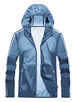 cheap -Men's Hiking Jacket Hiking Windbreaker Outdoor Windproof Sunscreen Breathable Quick Dry Jacket Top Camping / Hiking Fishing Climbing Dark Grey / White / Blue / Light Grey / Summer