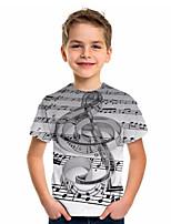 cheap -Kids Boys' Sports & Outdoors Basic Holiday Jacquard Short Sleeve Tee Gray