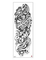 cheap -6 Sheets Randomly  Extra Large Temporary Tattoos Sleeve Full Arm Sleeve Temporary Tattoos for Men Women Body Art Fake Half Arm Tattoo Stickers