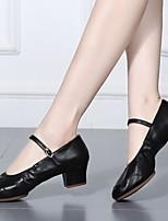 cheap -Women's Dance Shoes Latin Shoes Modern Shoes Heel Cuban Heel Black / Gold / Silver / Performance