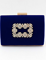 cheap -Women's Bags Velvet Evening Bag Crystals for Event / Party Black / Blue / Wedding Bags