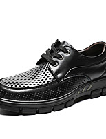 cheap -Men's Spring / Summer Vintage Daily Oxfords Walking Shoes Cowhide Wear Proof Black / Brown