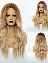 cheap -Synthetic Wig Body Wave Middle Part Wig Very Long Synthetic Hair 28 inch Women's Fashionable Design Life Women Blonde