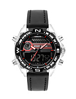 cheap -DIOUCE Men's Sport Watch Quartz Modern Style Stylish Outdoor Water Resistant / Waterproof Leather Analog - Digital - Black Red Black / White
