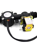 cheap -Water flow meter sensor indicator counter with Solenoid Valve automatic billing system for Water heaters water dispenser G1/2