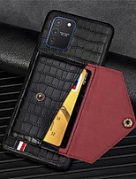 cheap -Crocodile Pattern Phone Case For Samsung Galaxy Galaxy A91 M80S  A81 M60S A71 A51 A41 A21 A11 A01 A70 A50 A30 A20 A10 PU Leather Card Slots Wallet for Galaxy S20 S20Plus S20Ultra S10 S10Lite Case
