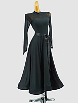 cheap -Ballroom Dance Dress Sash / Ribbon Girls' Training Daily Wear Long Sleeve Polyester