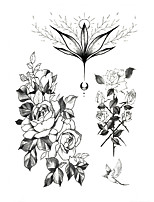 cheap -1 pcs tattoo designs Temporary Tattoos Flower Arm Tattoo Sticker Fashionable and beautiful personality simple and convenient and practical waterproof tattoo sticker