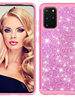 cheap -Case For Samsung A01 A11 A21 A51 A71 S8 S8Plus S9 S9Plus S10 S10E S10Plus S20plus S20 S20Ultra Note 9 10 10Plus 10Pro Shockproof Glitter Shine Back Cover Solid Colored Glitter Shine TPU  PC