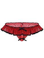 cheap -Men's Print G-string Underwear - Normal Low Waist Red One-Size