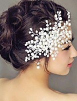 cheap -Women's Hair Combs For Party Evening Engagement Party Festival Imitation Pearl Alloy White 1pc