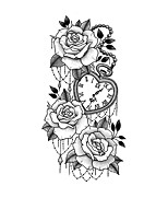 cheap -XQB121-140 1 pcs Temporary Tattoos Water Resistant / New Design / Creative brachium Plastic Tattoo Stickers