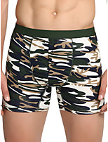 cheap -Men's Print Boxers Underwear - Normal Mid Waist Red Army Green Khaki M L XL