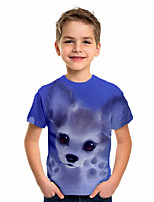 cheap -Kids Boys' Basic Holiday Animal Short Sleeve Tee Blue