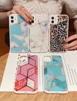 cheap -Case For Apple iPhone 11 / iPhone 11 Pro / iPhone 11 Pro Max Shockproof / Glitter Shine Back Cover Geometric Pattern / Marble TPU