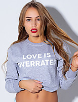 cheap -Women's Sweatshirt Pullover Sweatshirts Black White Pink Pure Color Crew Neck Cotton Solid Color Cute Letter Sport Athleisure Sweatshirt Long Sleeve Lightweight Breathable Soft Everyday Use Causal