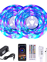 cheap -MASHANG 32.8ft 10M RGB LED Strip Lights Music Sync Smart LED Lights Tiktok Lights 600LEDs SMD 2835 Color Changing with 40 keys Remote Bluetooth Controller for Home Bedroom TV Back Lights DIY Deco