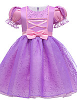 cheap -Rapunzel Dress Flower Girl Dress Girls' Movie Cosplay A-Line Slip Purple Dress Halloween Children's Day Masquerade Polyester