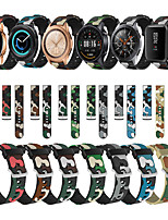 cheap -22mm band For Samsung Galaxy watch 46mm 42mm band silicone active 2 gear S3 Frontier strap Camouflage for GT 2e amazfit bip gts