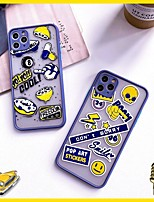 cheap -Case For APPLE  iPhone7 8 7plus 8plus  XR XS XSMAX  X SE  11  11Pro   11ProMax  Pattern Back Cover  TPU PC lemon smiling face Word  Phrase