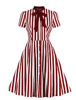 cheap -Audrey Hepburn Vintage Dress Women's Spandex Costume Wine / LightBlue Vintage Cosplay A-Line