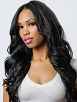 cheap -Remy Human Hair Wig Medium Length Long Wavy Body Wave Middle Part Natural Women Sexy Lady New U Part Brazilian Hair Women's Natural Black #1B 12 inch 14 inch 16 inch
