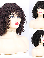cheap -Synthetic Wig Afro Curly with Baby Hair Wig Medium Length Natural Black Chocolate Synthetic Hair 30~34 inch Women's New Arrival Black Dark Brown