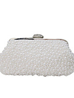 cheap -Women's Bags Synthetic Evening Bag Pearls / Crystals for Event / Party White / Beige / Wedding Bags