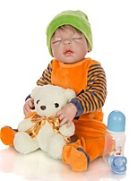 cheap -KEIUMI 22 inch Reborn Doll Baby & Toddler Toy Reborn Toddler Doll Baby Boy Gift Cute Lovely Parent-Child Interaction Tipped and Sealed Nails Full Body Silicone 23D36-C210-T13 with Clothes and