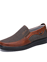 cheap -Men's Summer / Fall Casual / Preppy Daily Outdoor Loafers & Slip-Ons Denim Non-slipping Wear Proof Camel / Black / Khaki
