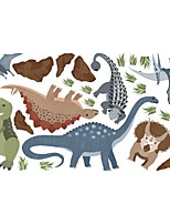 cheap -Dinosaur Wall Stickers Decorative Wall Stickers, PVC Home Decoration Wall Decal Wall Decoration / Removable