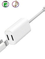 cheap -2 in 1 iPhone Lightning Audio Charge Adapter iPhone Lightning Headphone Jack Aux Audio Charge Sync Music Control Adapter Compatible with iPhone ipad Support iOS 13