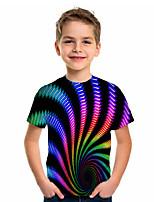 cheap -Kids Boys' Sports & Outdoors Basic Holiday Jacquard Short Sleeve Tee Rainbow