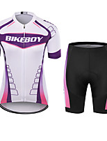 cheap -BIKEBOY Women's Short Sleeve Cycling Jersey Cycling Shorts Purple Bike Quick Dry Sports Mountain Bike MTB Road Bike Cycling Clothing Apparel / Stretchy