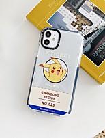 cheap -Case For APPLE iPhone 7 8 7plus 8plus XR XS XSMAX X SE 11 11Pro 11ProMax Translucen Pattern Back Cover Word Phrase TPU pikachu ticket cute